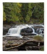 Manido Falls 1 Fleece Blanket