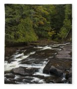 Manido Falls 5 Fleece Blanket