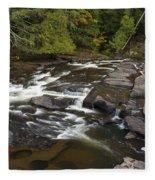 Manido Falls 6 Fleece Blanket