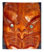 Maori Mask One Fleece Blanket