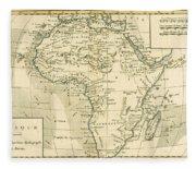 Map Of Africa Fleece Blanket