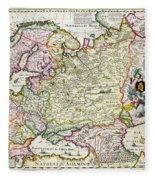 Map Of Asia Minor Fleece Blanket