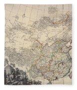 Map Of China, 1734 Fleece Blanket