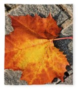 Maple Leaf In Fall Fleece Blanket