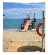 Marbella Beach In Spain Fleece Blanket