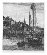 Marblehead: Fishing Boats Fleece Blanket