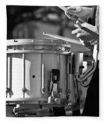 Marching Band Drummer Boy Bw Fleece Blanket