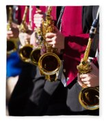 Marching Band Saxophones  Fleece Blanket