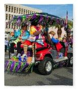 Mardi Gras Clowning Fleece Blanket