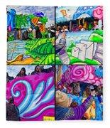 Mardi Gras Fun Fleece Blanket