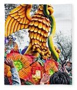 Mardi Gras Parade 2 Fleece Blanket