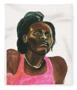 Maria Mutola Fleece Blanket