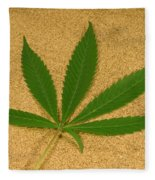 Marijuana Leaf Fleece Blanket