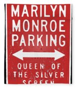 Marilyn Monroe Parking Fleece Blanket
