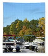 Marina In Fall Fleece Blanket