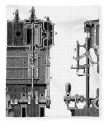 Marine Steam Engine, 1878 Fleece Blanket