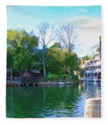 Mark Twain Riverboat At Disneyland Fleece Blanket