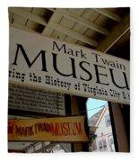 Mark Twian Museum Virginina City Nv Fleece Blanket