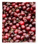Market Cherries Fleece Blanket