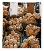 Market Mushrooms Fleece Blanket