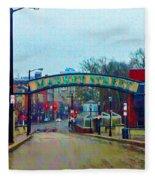 Market Street From Penns Landing Philadelphia Fleece Blanket