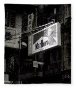 Marlboro In Hong Kong Fleece Blanket