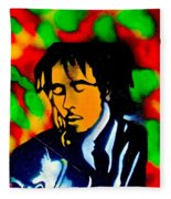 Marley Rasta Guitar Fleece Blanket