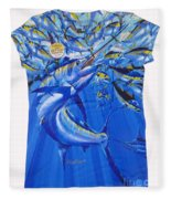 Marlin Ladies Shirt Fleece Blanket