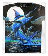 Marlin Moon Mens Shirt Fleece Blanket
