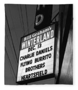 Marquee At Winterland In Late 1975 Fleece Blanket
