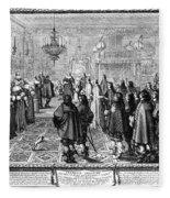 Marriage Contract, 1645 Fleece Blanket