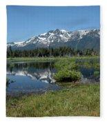 marsh Flowing to Lake Tahoe Fleece Blanket
