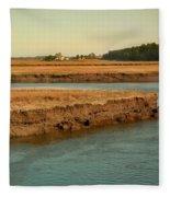 Marsh Of Pine Point Fleece Blanket