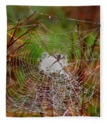 Marsh Spider Web Fleece Blanket