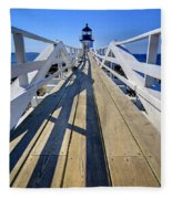 Marshal Point Lighthouse Walkway Fleece Blanket