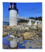 Marshall Point Light Reflection Fleece Blanket