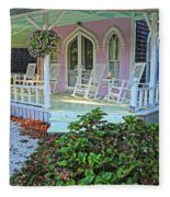 Marthas Vineyard Cottage Fleece Blanket