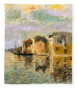 Martigues In The South Of France Fleece Blanket