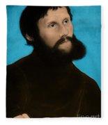 Martin Luther, German Theologian Fleece Blanket