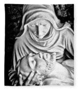 Mary Cradling Jesus Fleece Blanket