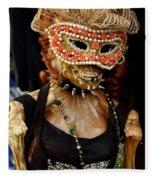 Mask Ball Fleece Blanket