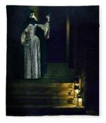Masked Lady Fleece Blanket