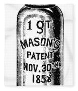 Mason Jar Fleece Blanket