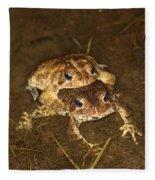 Mating Toads Fleece Blanket