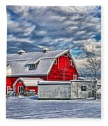 Matsqui Barn Hdr Fleece Blanket