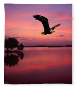 Mauve Sundown Eagle  Fleece Blanket