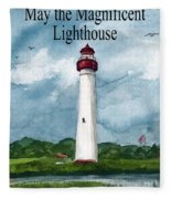 May The Magnificent Lighthouse  Fleece Blanket