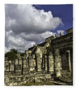 Mayan Colonnade Fleece Blanket
