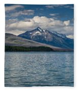 Mcdonald Lake Super Panorama Fleece Blanket