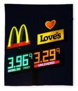 Mcdonalds Loves Gas Fleece Blanket